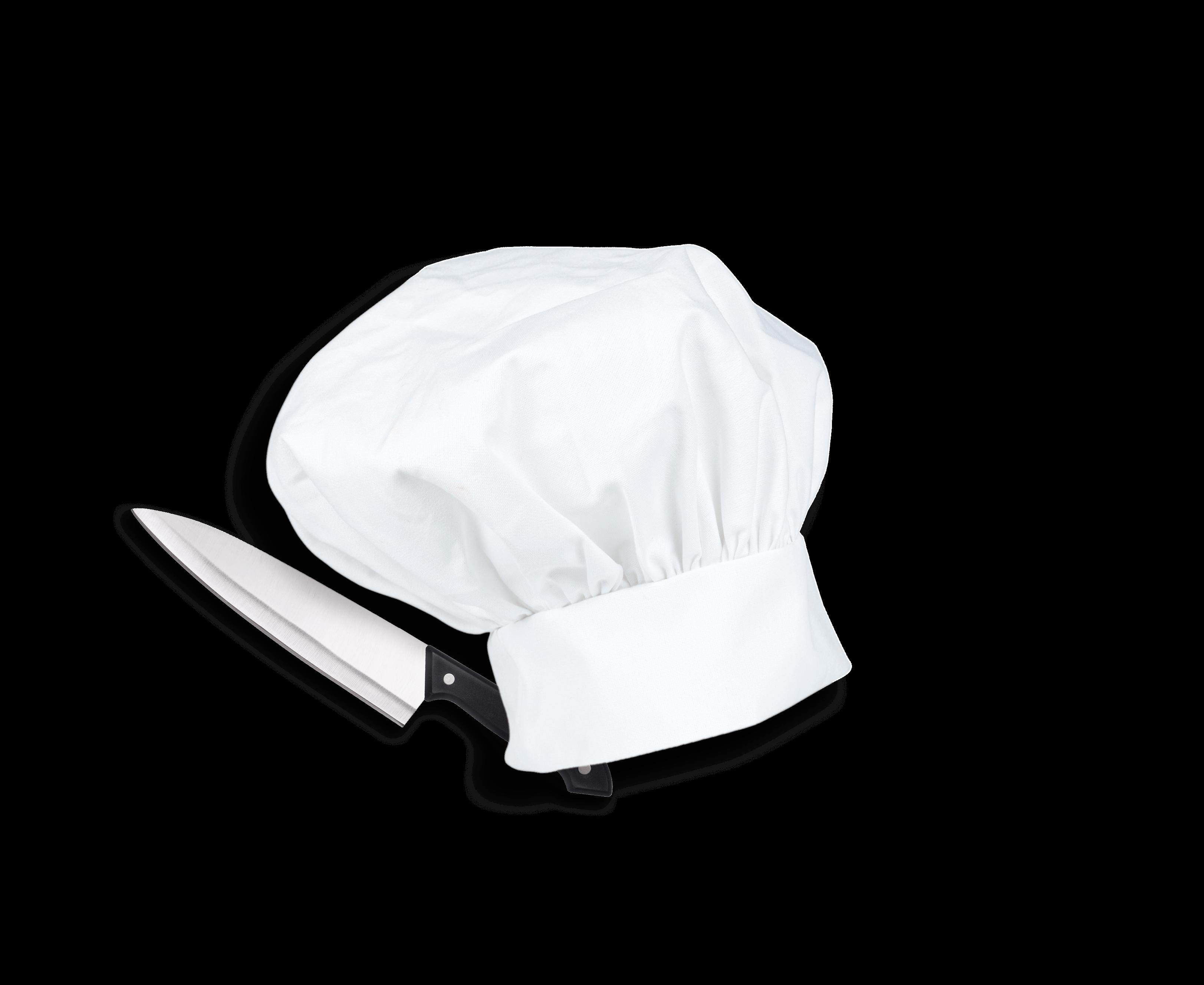 Couteau et chapeau de chef