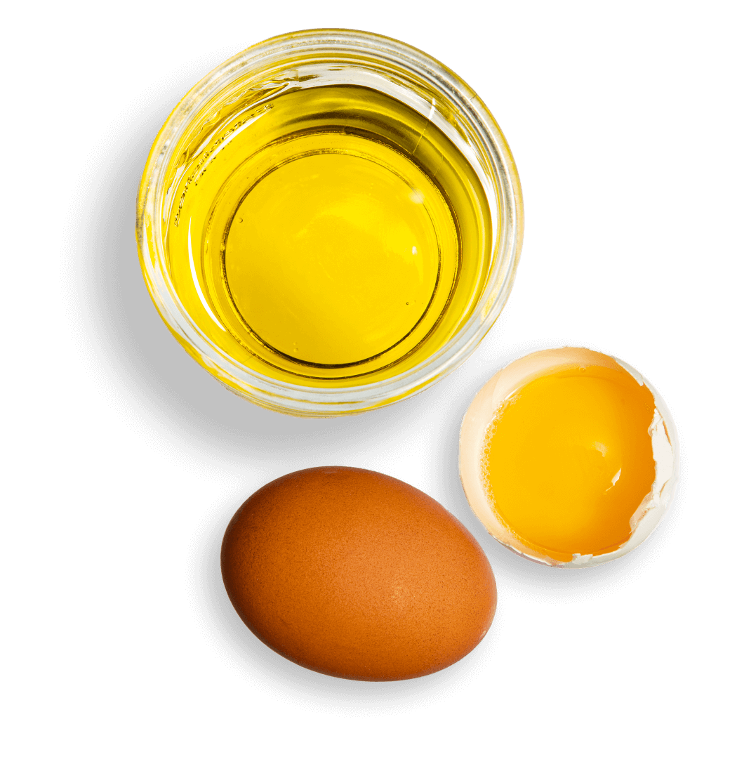 Egg and oil